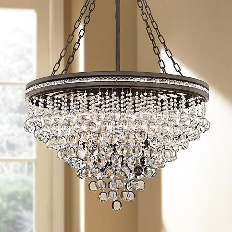 Regina Sage 28 Quot Wide Crystal Chandelier Dining With