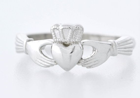 Sterling Silver Claddagh Ring Claddagh by TheJewelryGirlsPlace