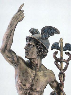 greek gods | ... Greek Mercury Hermes Statue by Giovanni da Bologna Messenger God #3141