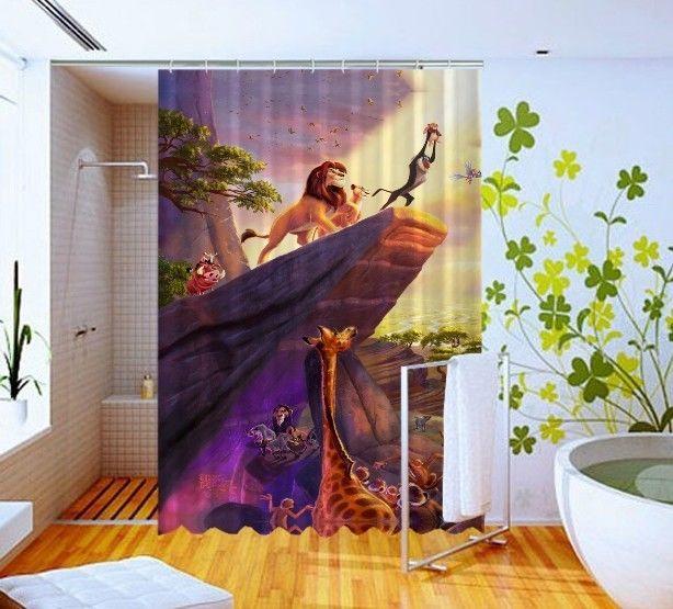Hakuna Matata Lion King Disney Cover Art Custom Design Shower