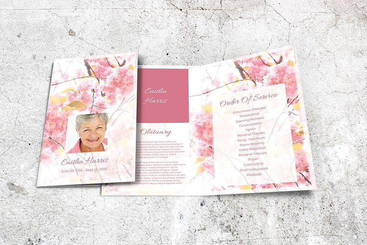 Funeral Program Template in MS Word by Final Tribute on @creativemarket