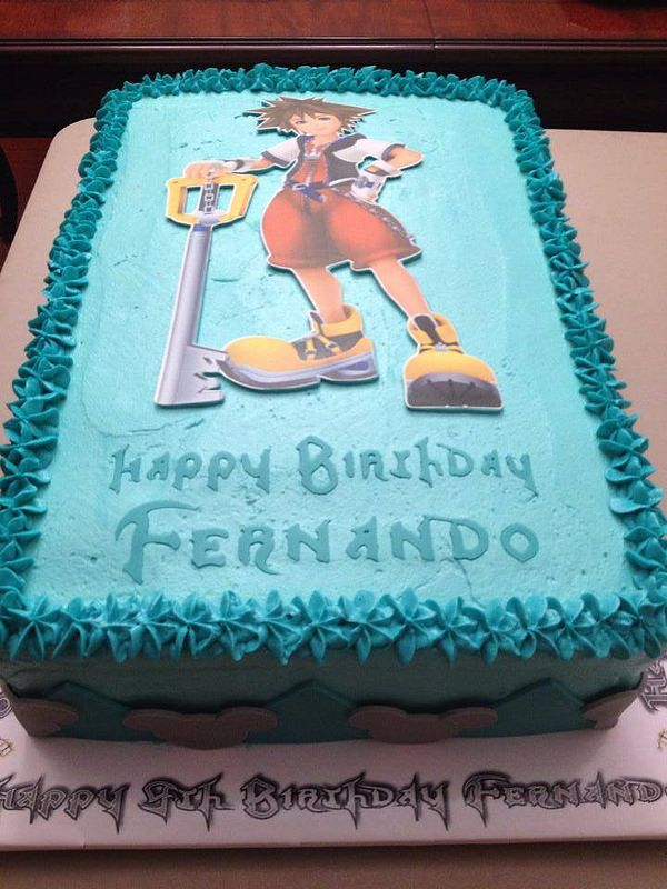 Disney Kingdom Hearts Birthday Birthday Cakes Kingdom