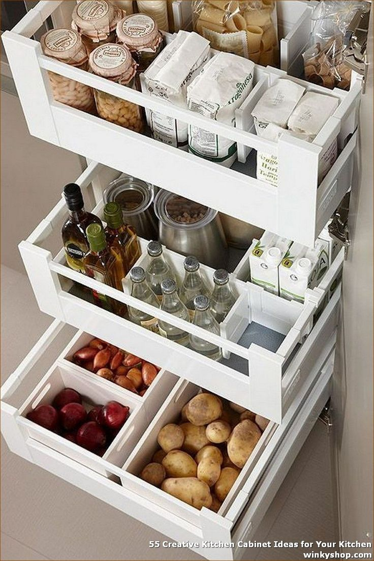 55 creative kitchen cabinet ideas for your kitchen as on clever ideas for diy kitchen cabinet organization tips for organizers id=72831