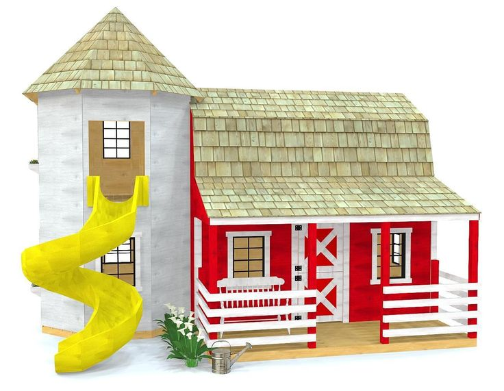 12135 best all about playhouses images on pinterest for Barn and silo playhouse