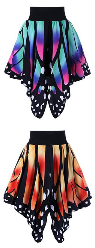 $17.30 High Waist Butterfly Shape Skirt