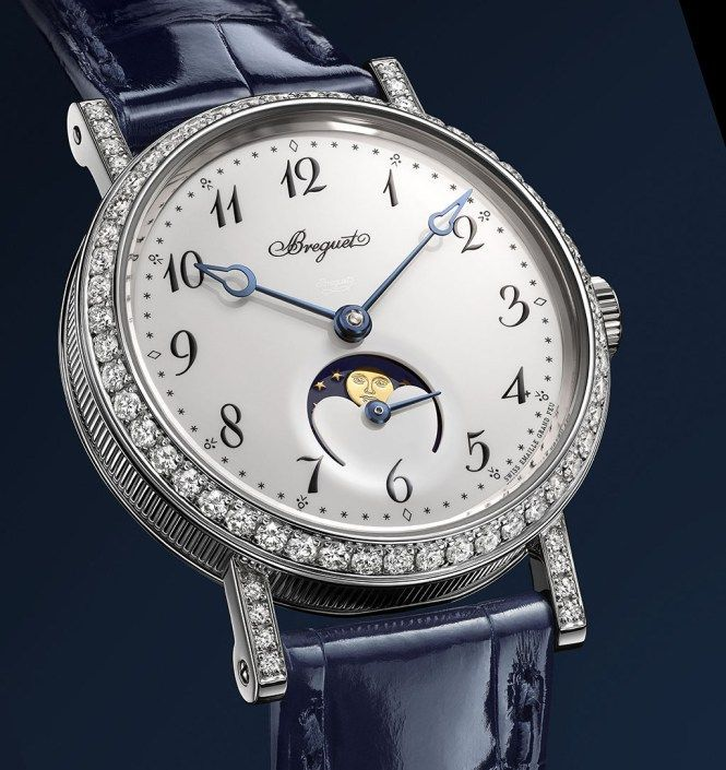 Classique Breguet Ladies wristwatch in in 18-carat white gold with a delicately fluted caseband: https://www.youtube.com/watch?v=oZdSO8Tw2ns&feature=youtu.be
