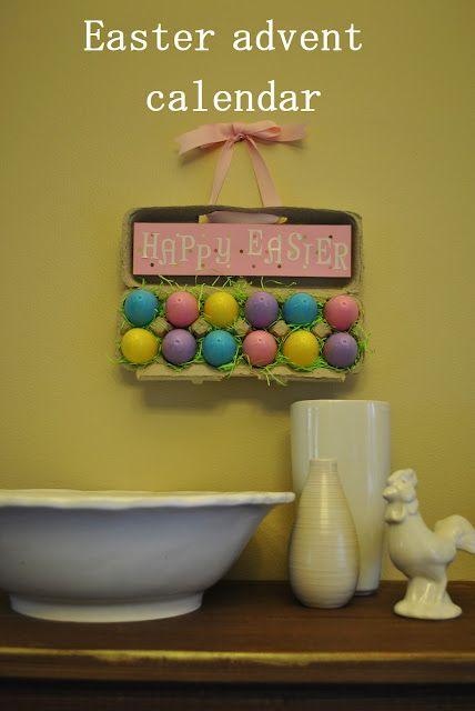 Easter Advent Calendar-I love this idea. Could use Easter FHE lesson I pinned.
