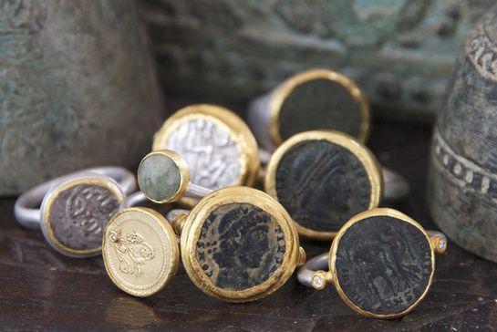 """VOGUE Paris - Carnet d'adresses: """"Des bijoux antiques remis au goût du jour Karen Liberman chez WHITE bIRD."""" Authentic ancient roman coin rings available at WHITEbIRDjewellery.com"""
