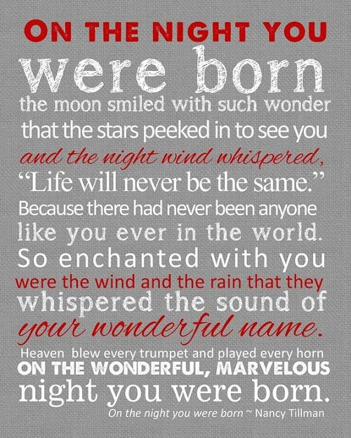 Night When You were Born Baby Quotes