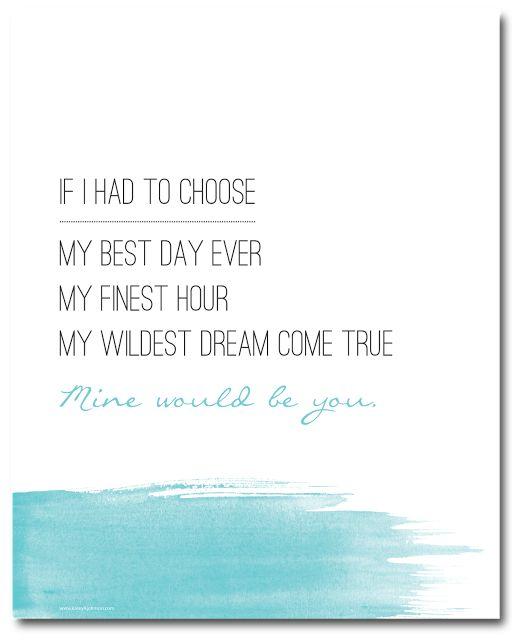 Mine Would Be You, Blake Shelton. Free Printable. kasey A. johnson design: Free Printable - Mine Would Be You #kjdesign