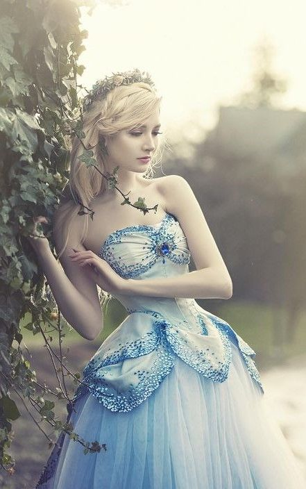 Blue dress fit for a faerie princess!