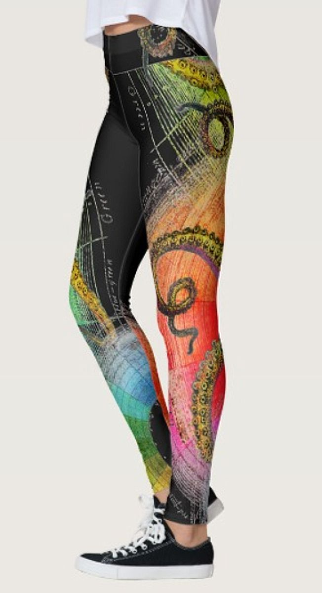 Squid Prismatic Leggings by NDGRags on Zazzle