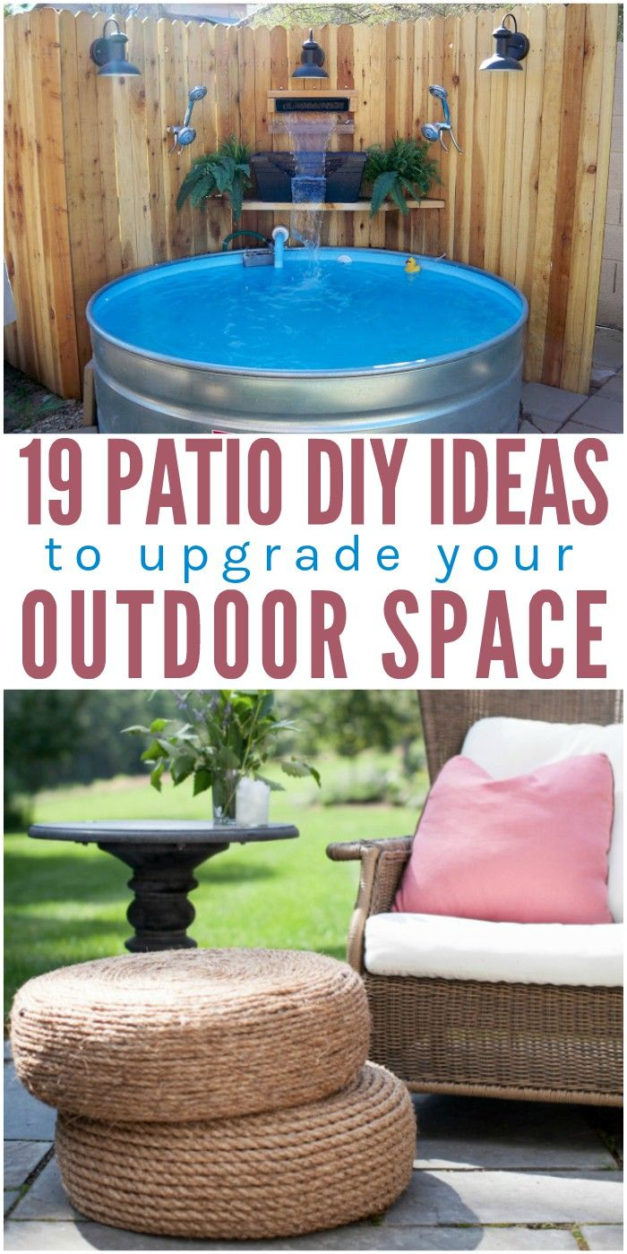 Looking for a few fun summer projects? Tackle one or more of these diy patio ide…  – DIY | Build It