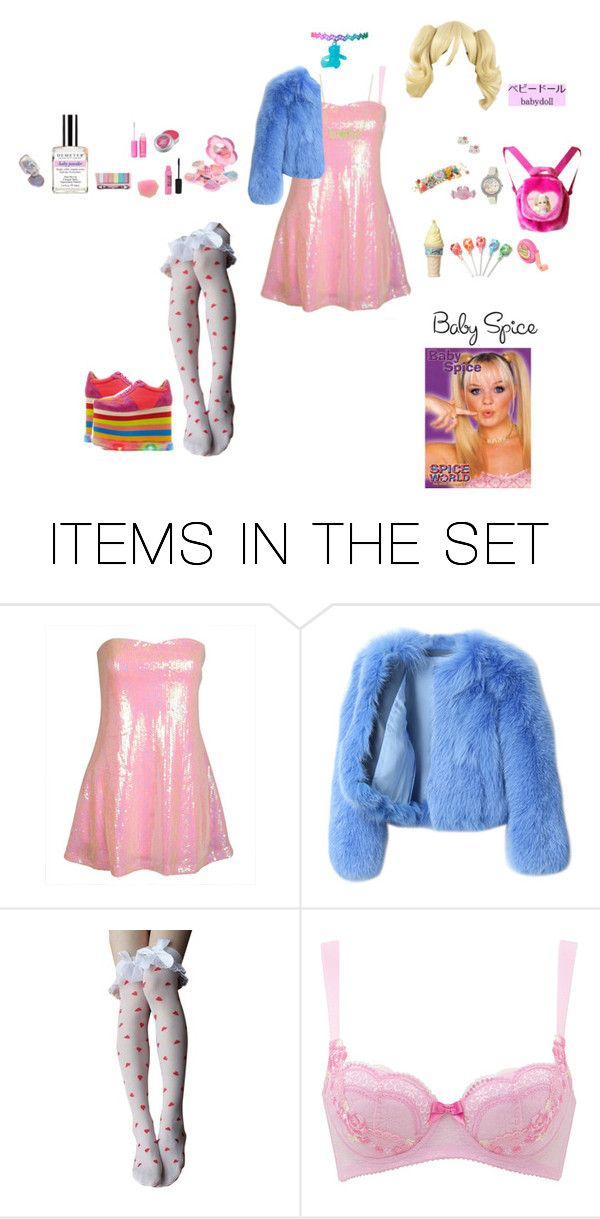 """Baby Spice-Emma"" by candylandy-1 ❤ liked on Polyvore featuring art, 90s, kawaii, SpiceGirls, BabySpice and nymphet"