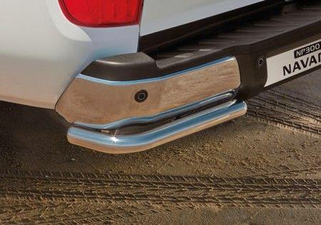 Nissan NP300 Navara (D23M) Rear Styling Corners - Stainless Steel, Chrome DC - KE5454K01A