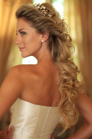 Wedding hair idea.