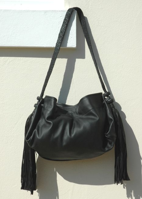 Black leather slouch bag from www.jamshop.org.uk