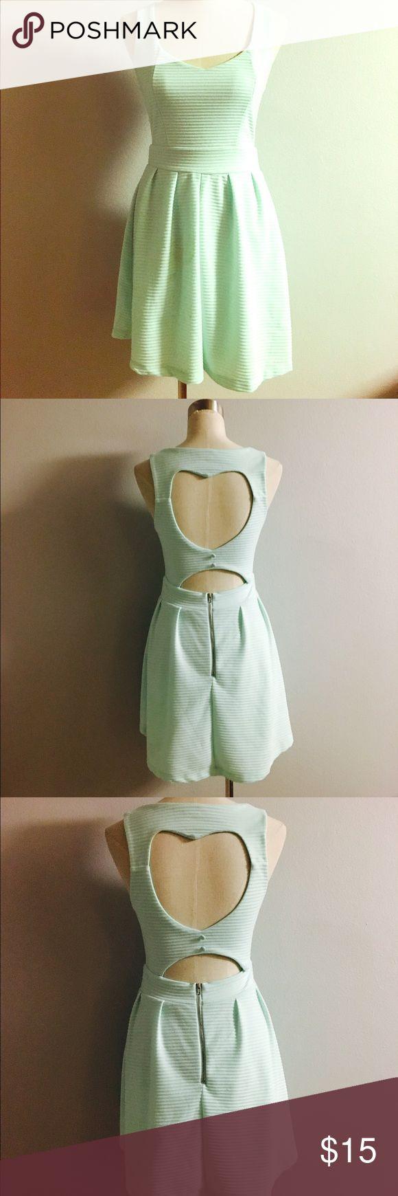 Mint Heart Cut Out Back Dress! Size medium! Dresses