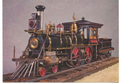Train-Postcard-American-Locomotive-1875-Model
