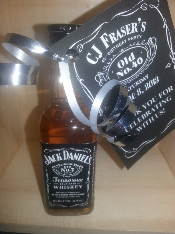 Party results Jack Daniel's party favors