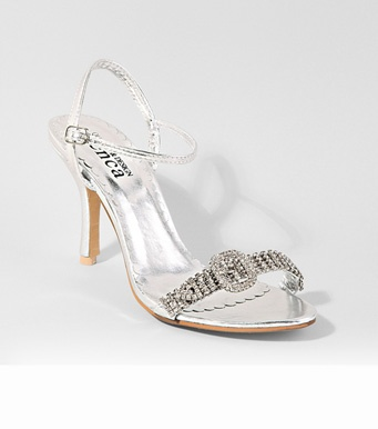Sandalias de vestir mujer tacón plateadas strass Moda Mujer 17 Venca