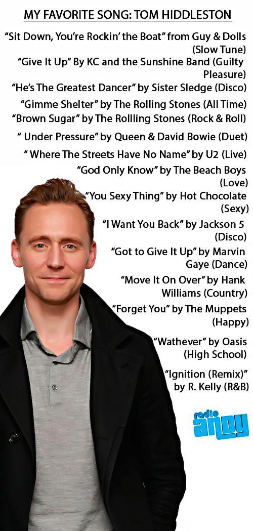 Tom Hiddleston On My Favorite Song With John Benjamin Hickey: https://soundcloud.com/daisyjj/tom-hiddleston-on-my-favorite-song-with-john-benjamin-hickey?in=aryxiddlestoner/sets/tom-hiddleston