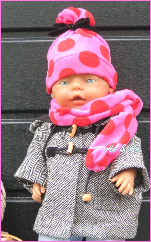 Winterjas voor Baby Born met muts sjaal en wantjes