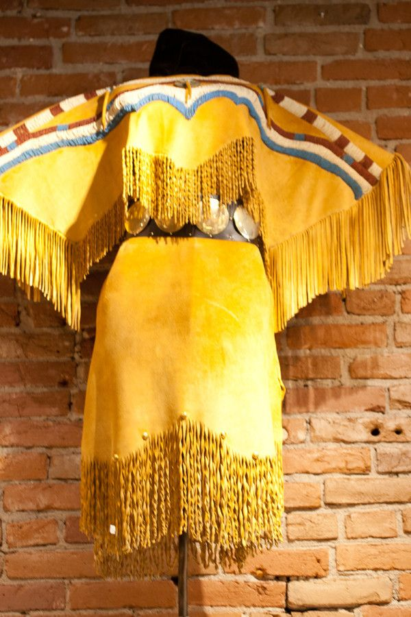 This Native American Dress Reproduction is similar to styles found in two Native American regions: the Nez Perce tribe and the Pacific Northwest. The original artifacts used for recreating this dress