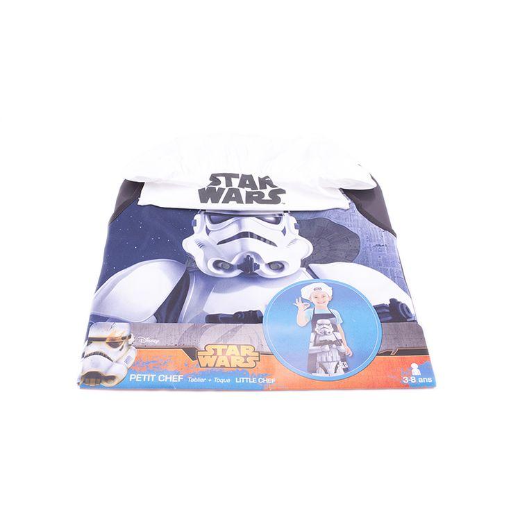 Protégé et à croquer pour cuisiner en famille avec ce tablier et cette toque Star Wars  Les fans de Star Wars vont adorer ce kit de petit chef et ne voudront plus quitter la cuisine.