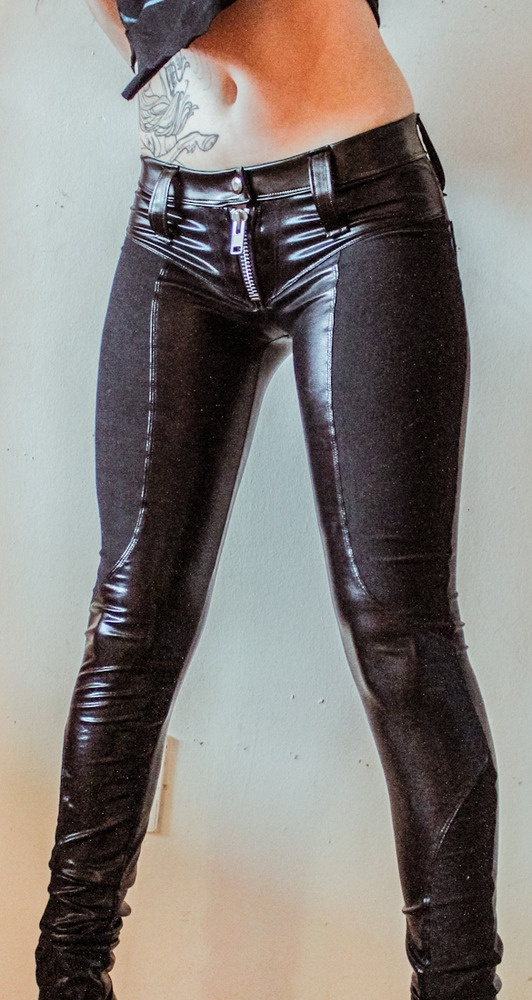 Image of TOXIC VISION faux leather biker pants - LOVE but would never have an occasion to wear these for lol