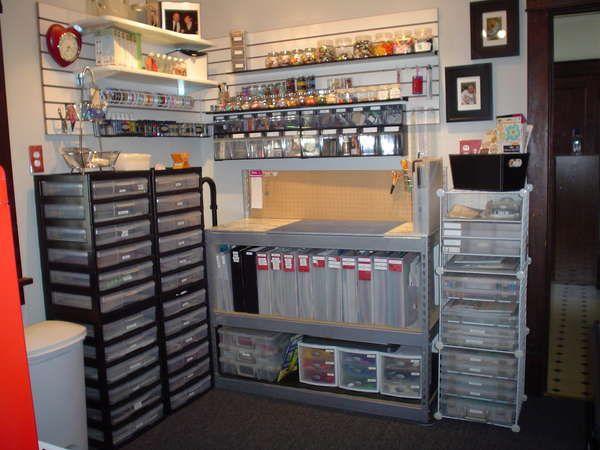 Organized Scrapbooking room
