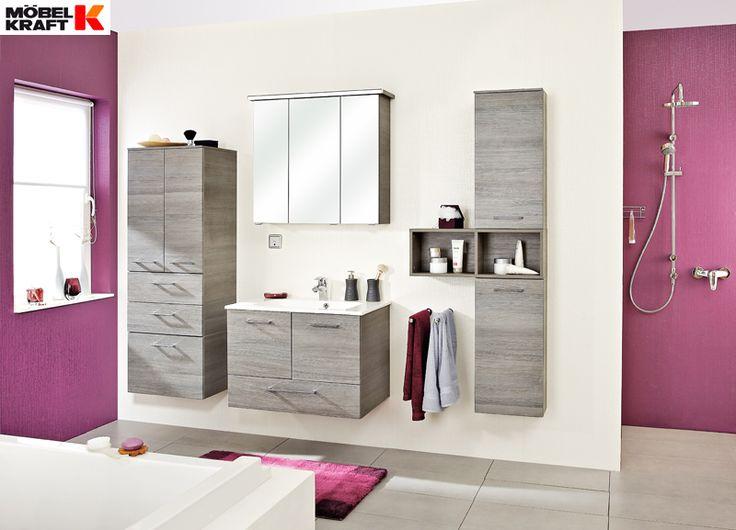 schlichte badm bel zu peppigen w nden gefunden bei m bel kraft badezimmer bathroom. Black Bedroom Furniture Sets. Home Design Ideas