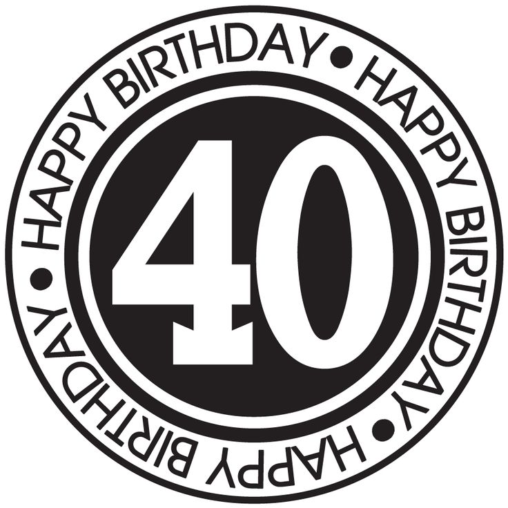 happy birthday 40 years - Google Search | VERY IMPORTANT ... 40 Clipart