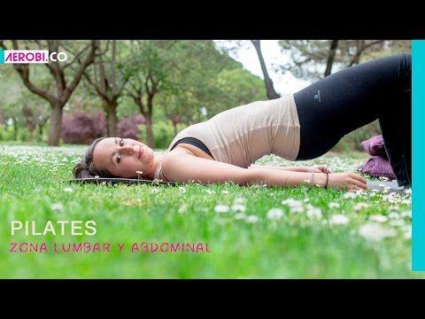 Ejercicio de Pilates para zona lumbar y abdominal - YouTube