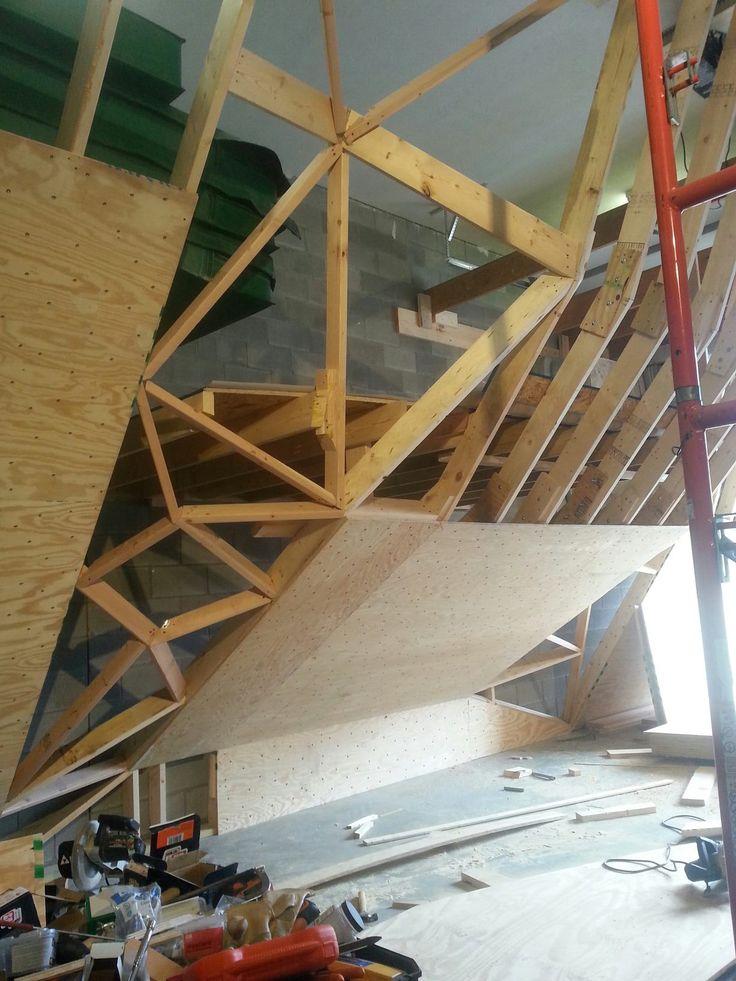 home climbing wall plywood 10                              …
