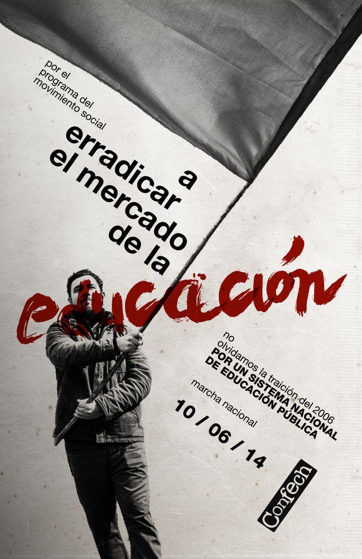 marcha nacional 10 de junio confech #political #social #propaganda #Chile #Education