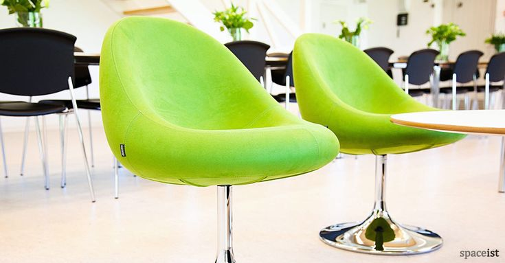 Media lime green cafe chairs