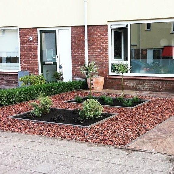Grava Roja De Marmol Jardines Jardin Con Piedras Jardin Delantero