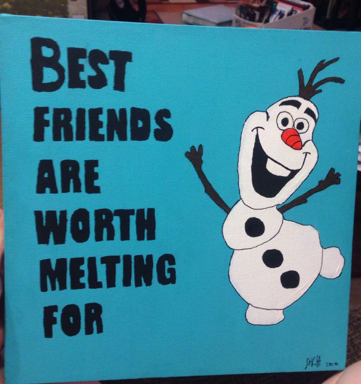 Olaf canvas for your bestfriend! DIY