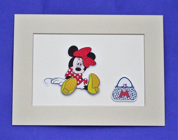 Minnie Mouse Picture / Cute handmade minnie picture / unframed picture