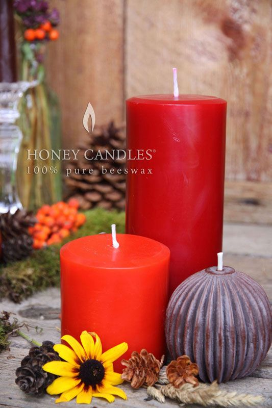 Beeswax Honey Candles Round Pillars