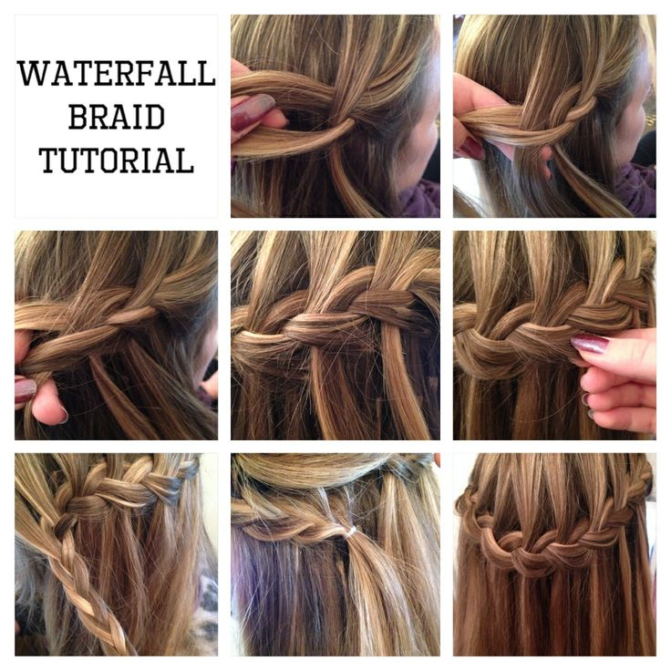 Waterfall Braid Tutorial Pictorial Waterfall Braid