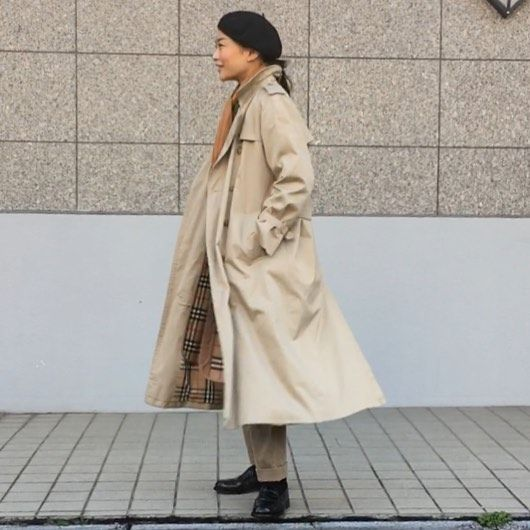 Today's style. Coat:#burberry  Jacket:#military  Pants:anatomica#trimfitpants Shoes:#alden Beret:anatomica#basqueberet Scarf:anatomica#vicunandina #anatomica #anatomica_tokyo #anatomica_nagoya #anatomica_kobe