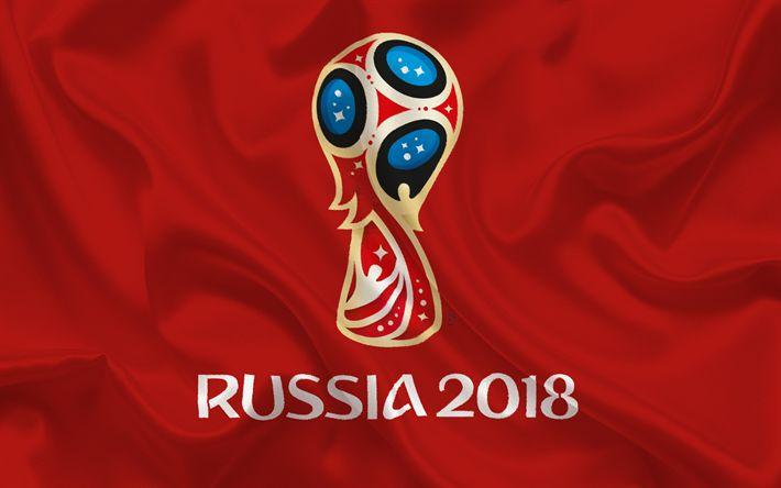 壁紙をダウンロードする ロシア2018年, ロゴ, サッカー, 世界選手権大会, 2018年のFIFAワールドカップ, ロシア