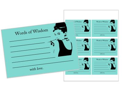 http://www.magicalprintable.com/downloads/breakfast-at-tiffanys-words-of-wisdom-cards/