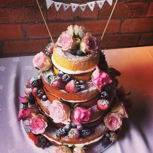 SCANDAL. | Community Post: 17 Wedding Cakes That Got Completely ~Naked~ Some of these are SUPER pretty :)