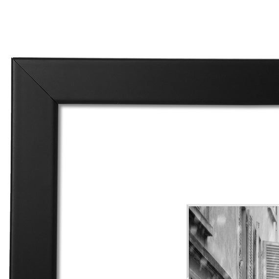 11x14 Black Picture Frame Made To Display Pictures 8x10 With Mat Or 11x14 Without Mat Wide Molding Wall Mounting Material Included Black Picture Frames Black Picture Picture Display