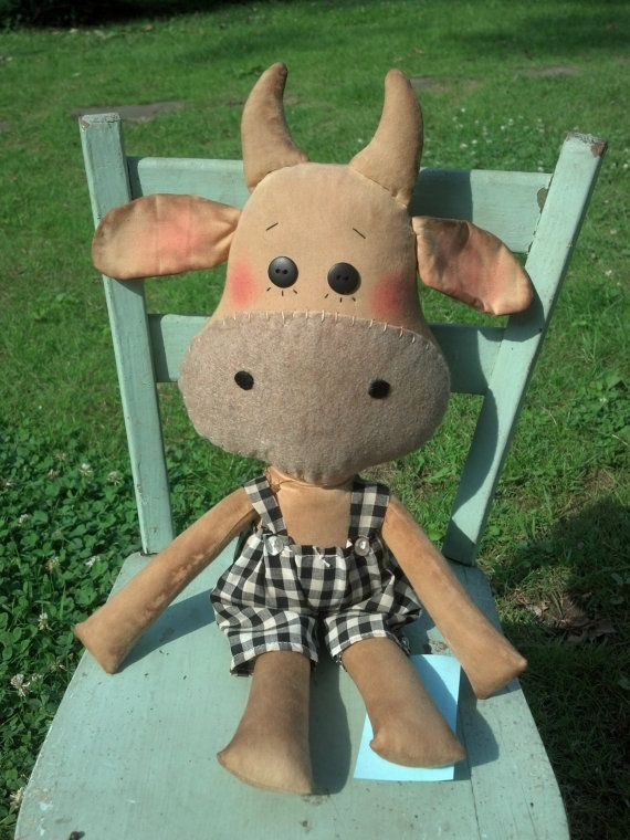 Chester the Cow Raggedy cow doll bull