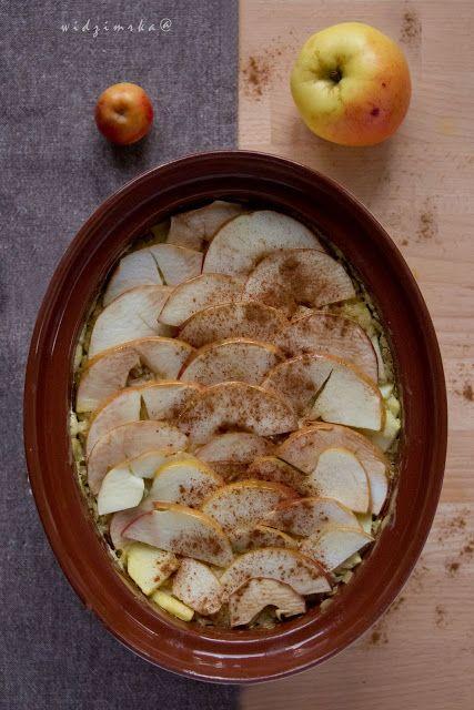 Widzimrka: Ryż zapiekany z jabłkiem i koglem-moglem/rice egg-nogg and apple baked in the oven