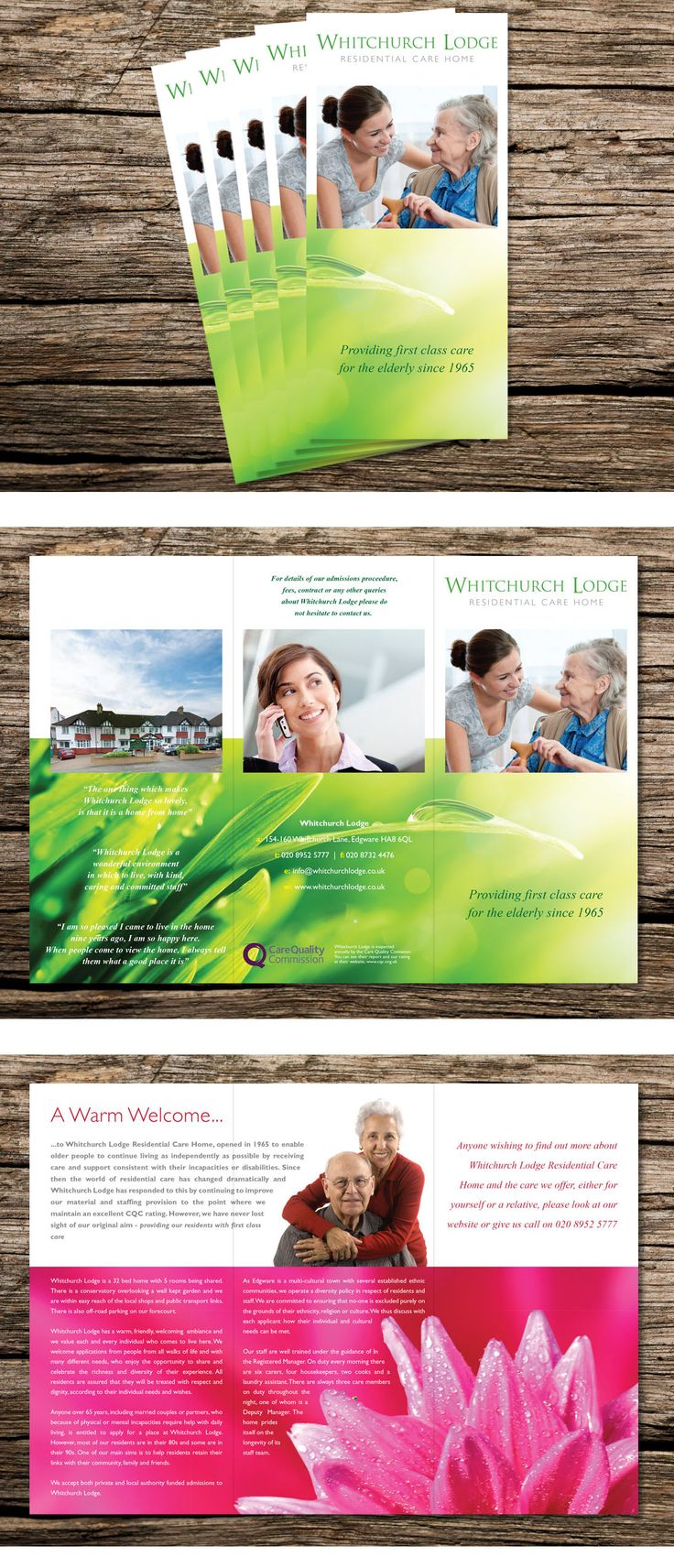 Whitchurch Lodge Residential Care Home Leaflet, 1/3 A4, 6pp.